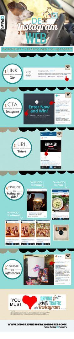 De Instagram a tu Web #infografia via @RakelFL