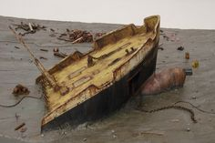 Beach in Chittagong - wreckage of cargo ship 1/16 Scale Model Diorama
