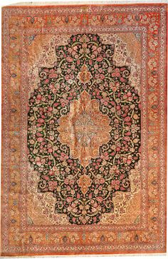 Qum rug  size approximately 6ft. 7in. x 9ft. 11in.