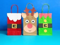 Favor Bags, Goodie Bags, Lolly Bags, Santa Suits, Christmas Gift Bags, Xmas Crafts, Craft Stores, Special Gifts, Ideas