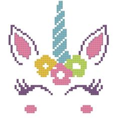 Unicorn Birth Announcement Cross Stitch Pattern Custom Pattern