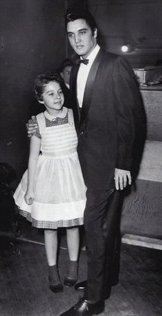 Brenda Lee with Elvis Presley at the Ryman Auditorium, 1957.