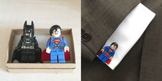 Rock up to that function with hand made super hero Lego cuff-links.