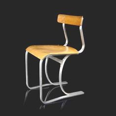 marcel-breuer-chaise-1932 matière aluminium + contreplaqué.