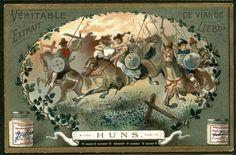 Horsemen: Hun Cavalry On Horses NICE c1903 Card