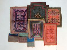 Collection of Textile Fragments - Hmong - mid 20th Century