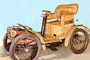 French made 1897 Hugot with a body made entirely of wicker has a 3½ horsepower motor under the seat.    Source: History of the Motorcar, a book by Marco Matteucci  @WickerParadise