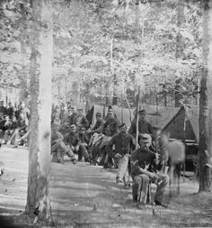 1864 civil war photo Petersburg VA Camp of companies C