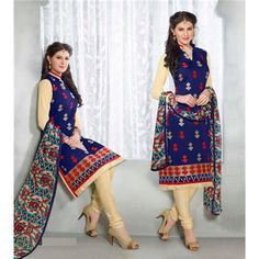 Saiveera Most Recent arrival Blue Brown Cotton Emboidered Unstiched Casual Salwar Suit/Dress Material Saiveera Fashion Is a Best Manufacturer, Exporter,Wholesaler, As well as Best and dealer,Retailar Of Designer,Embroidery Wedding Sari,Kids Lahenga Choli,Salwar Suit,Dress Material,etc.in surat Textile Market. Also Mainly Focus On Style,Choice,Fabric. So Saiveera Fashion Also Made Designer,Cotton,Fancy,Kurtis,Saree,Wedding, Partywear,For More Query Please Call Or Whatsapp- +91-8469103344