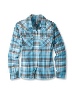 Love these shirts from Jackson's own Stio -- cute tapered fit for women and perfect for Plaid Flannel, Flannel Shirts, Flannels, Blue Plaid, Country Outfits, Fall Outfits, Donna Pinciotti, Farm Fashion, Farm Clothes