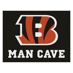 The Cincinnati Bengals Man Cave All-Star Area Rug