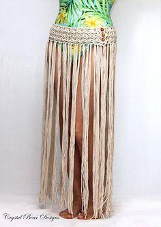 Ravelry: Boho Fringe Beach Skirt pattern by Bernadette Prokopetz Crochet Skirts, Crochet Clothes, Diy Clothes, Pdf Patterns, Crochet Patterns, Macrame Dress, Swimsuit Pattern, Fringe Skirt, Skirt Belt