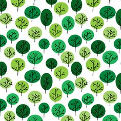 Trees in Summer fabric by Leighr.