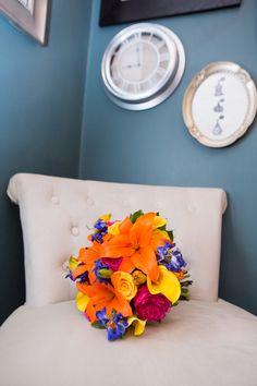 Nashville Garden Wedding Venue   Bright Summer Bouquet - Photo: Evin Photography