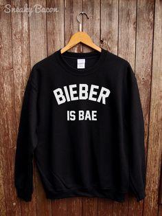 Justin Bieber sweater Bieber is bae Justin door SneakyBaconTees
