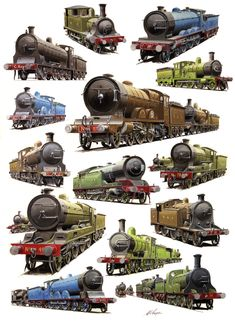 Cooperline: A portfolio of the transport art and photography of W. Cooper and the artwork of D. The Great Train Robbery, Rail Transport, Steam Railway, Train Art, British Rail, Rolling Stock, Steamers, Steam Engine, Steam Locomotive
