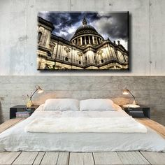 Large Size Box Framed Canvas Print Artwork Stretched Gallery Wrapped Wall Art Like Painting Hanging Original Decorative Modern Home & Living Decor Building Architecture Cathedral Tower Sky Structure Framed Canvas Prints, Artwork Prints, Canvas Frame, Poster Prints, Colouring Pics, Building Architecture, Box Frames, Home And Living, Cathedral