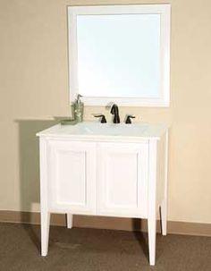 "33 ½"" Bellaterra Home Bathroom Vanity 203054 #BellaterraHome #HomeRemodel #BathroomRemodel #BlondyBathHome #BathroomVanity"