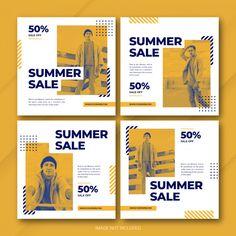 Instagram summer sale post template set | Premium Psd #Freepik #psd #banner #frame #business #sale Graphic Design Layouts, Web Design, Graphic Design Posters, Social Media Poster, Social Media Design, Packaging Design Inspiration, Graphic Design Inspiration, Food Poster Design, Plakat Design