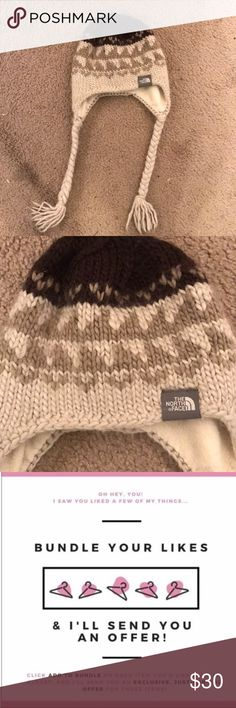 EUC North Face warm winter hat ❄️ Super cute, warm, and cozy North Face wool hat! Perfect condition. Make me an offer//bundle w other items in my closet for an additional discount ❣️ The North Face Accessories Hats