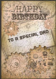 Hand Made Birthday Card Dad £2.00