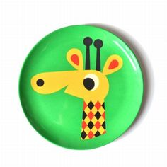 Ingela #melamine bord #giraf #Plate from www.kidsdinge.com    www.facebook.com/pages/kidsdingecom-Origineel-speelgoed-hebbedingen-voor-hippe-kids/160122710686387?sk=wall       http://instagram.com/kidsdinge