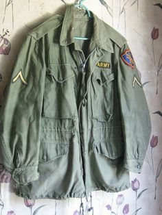 vintage ww2 vintage us army field jacket by Linsvintageboutique, $49.50