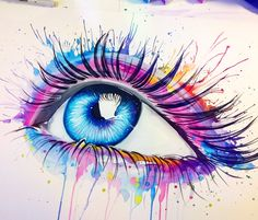 Pixie cold watercolor painter artist gallery large inked one рисунки акваре Watercolor Eyes, Watercolor Paintings, Murciano Art, Eyes Artwork, Realistic Eye Drawing, Eye Painting, Painter Artist, Artist Gallery, Eye Art
