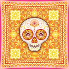 Sugar Skulls Seat Belt Dia De Los Muertos Day Of The Dead Seatbelt Buckle Down
