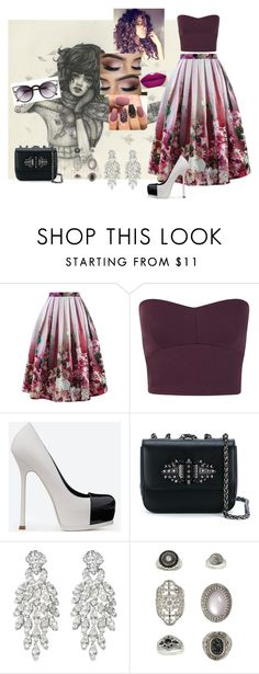 """""""Down #JasonWalker"""" by diane-ds ❤ liked on Polyvore featuring Chicwish, Miss Selfridge, Yves Saint Laurent, Christian Louboutin, Ben-Amun, Topshop and Quay"""