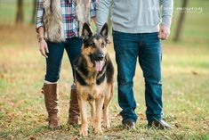 You and Me + dog makes three! | CLT Family Photographer | dog photography | charlotte photographer | fall portraits | christmas card photos | plaid | brown boots | accessories | pets | love | marriage | couples portraits | German Shepherd | dog photos | fur baby | fur vest | fashion