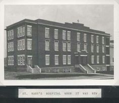 Mary's Hospital when it was new Quebec, Ontario, Bears, Nostalgia, Canada, City, Places, Lugares, Bear