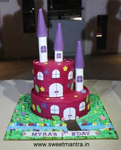 Homemade Eggless 3DCustom Truck theme 2nd birthday cake for boy at