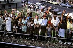 A remarkable set of photos: Americans gathering to watch RFK's funeral train, June 8th 1968. Pictures: Paul Fusco *I vividly remember watching the televison coverage of the train journey with my mother and her friends.