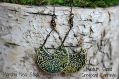 ADD ON Crescent Earring Listing to make Crescent Pendants Ready to Wear in Base Metal via Etsy