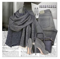 """""""Color Trend - Grey"""" by fashion-architect-style ❤ liked on Polyvore featuring Andrea, Comptoir Des Cotonniers, Zara, Black Rivet, Gianvito Rossi and White House Black Market"""