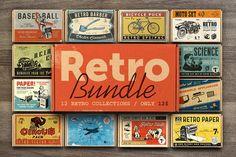 Retro Bundle by Retro Machine on @creativemarket