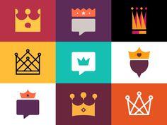 Flat Icons / Flat Design / Icons / Pictograms / Symbols / Crowns n' Stuff