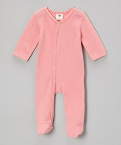 Take a look at this Bubblegum Star Organic Thermal Footie - Infant by kate quinn organics on #zulily today!