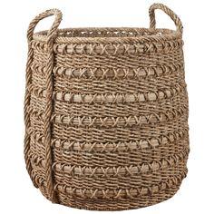 basket for fiddle leaf fig Freedom Furniture, Inside Garden, Fiddle Leaf Fig, Large Baskets, Storage Baskets, Interior Inspiration, Straw Bag, Handle, Banana Leaves