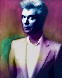 David Byrne Portrait by Enki Art Beautiful Wife, Dream Art, David Bowie, Medium Art, Rock Art, Rock Bands, Rock N Roll, My Hero, Canvas Prints