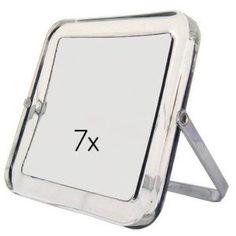 Rucci Square Stand Mirror,Acrylic, 1X/7X (Misc.)  http://www.amazon.com/dp/B000WPC6R8/?tag=goandtalk-20  B000WPC6R8