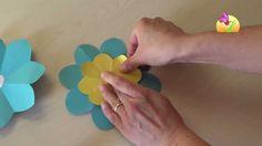 Realizzare un fiore con otto petali [HD] www.mammaebambini.it