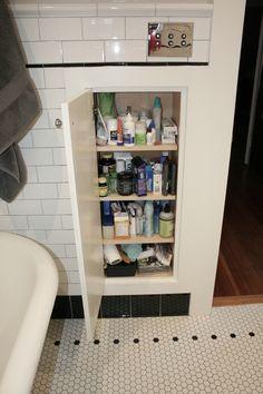 Recessed Medicine Cabinet in Bathroom #SmallSpaces