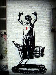Banksy magic, no doubt. Banksy Graffiti, Arte Banksy, Street Art Banksy, Bansky, Banksy Artwork, Amazing Street Art, Best Street Art, Halloween Geist, Urbane Kunst
