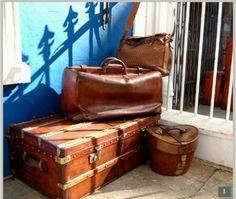 abbe748d9242 13 Best Vintage luggage obsession images