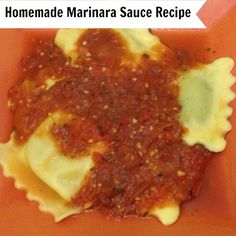 We bought spices from our local Organic Market and hubby cooked up this yummy homemade marinara sauce recipe to go with our spinach and sausage ravioli. HealthyFamilyMatters.com
