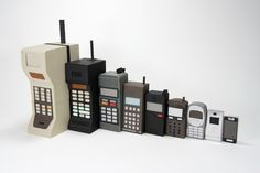 Mobile Evolution, Nested Papercraft Cell Phones