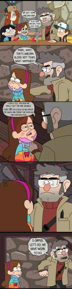 """Gravity Falls team meeting for Last Mabelcorn: """"And in this scene the girls will be COMPLETELY DRENCHED in unicorn blood"""" """"…Alex, I don't think the censors will-"""" """"Make it sparkly and call it 'tears', but the viewers will know. Disney Channel, Gravity Falls Funny, Gravity Falls Comics, Funny Cartoons, Funny Memes, It's Funny, Monster Falls, Gavity Falls, Fall Memes"""
