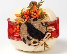 Decoupage - Burlap Wrapped Pumpkin